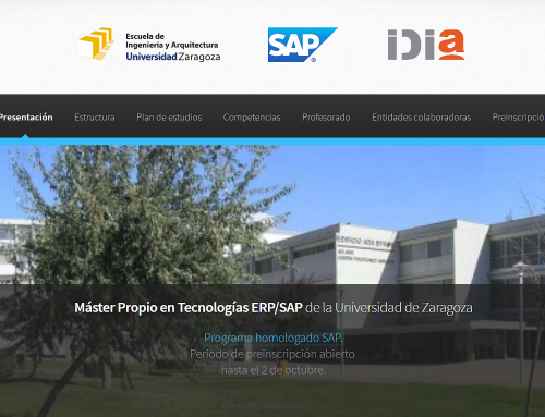 Presentation of SAP Master's degree University of Zaragoza / IDiA