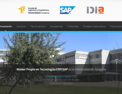 Presentación del Máster SAP Universidad de Zaragoza / IDiA
