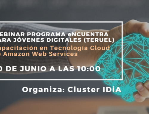 IDiA presentará la primera formación online completa de Amazon Web Services a los jóvenes de Teruel el próximo martes 30 de junio