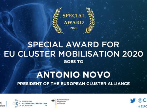 La Comisión Europea premia a nuestro director gerente por la creación de la Alianza de Clústeres Europeos y su labor durante la pandemia