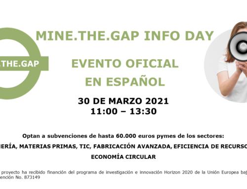Celebración evento oficial informativo sobre ayudas de hasta 60.000 euros del proyecto MINE.THE.GAP