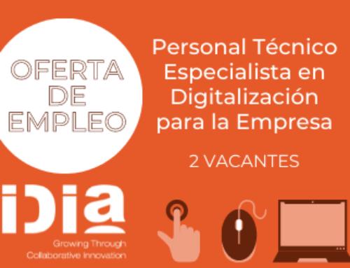 Oferta de empleo: 2 vacantes para técnico especialista en digitalización para la empresa