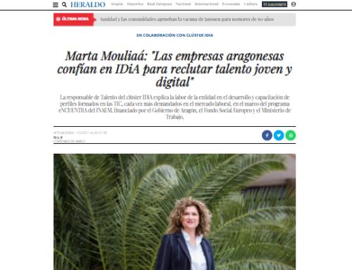 Heraldo de Aragón recoge en sus páginas nuestro servicio gratuito de reclutamiento de talento «Las empresas aragonesas confían en IDiA para reclutar talento joven y digital»